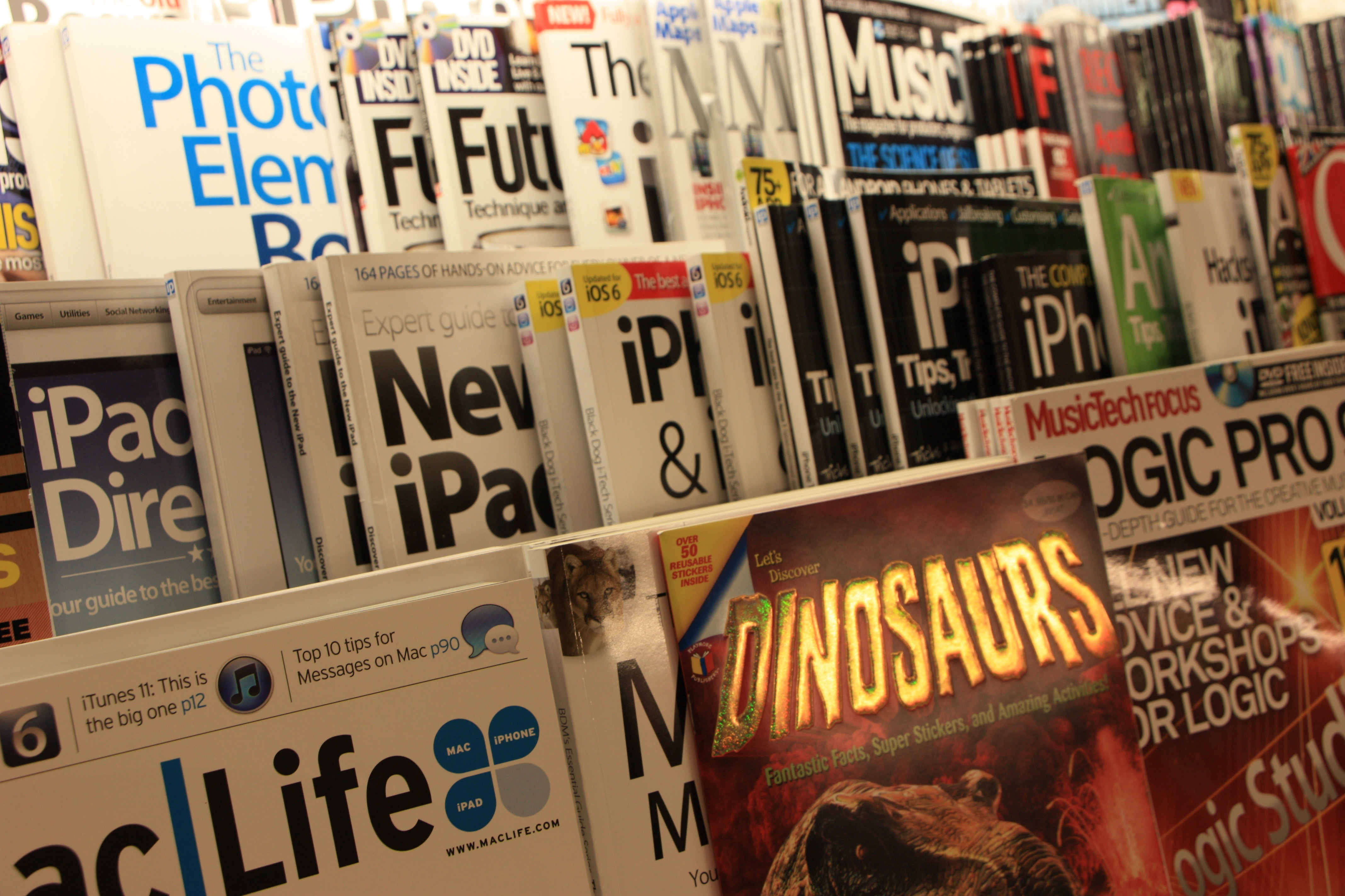Magazines compete for attention on the newsstand