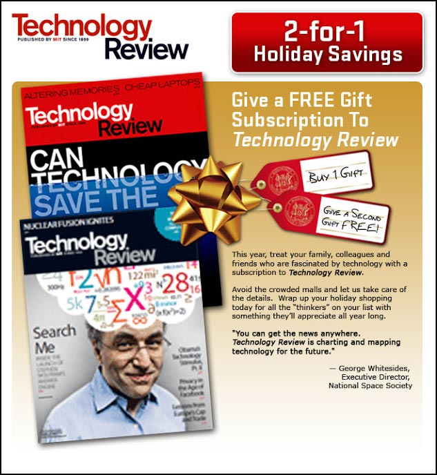 Technology Review Gift Subscription Email - Rebecca Sterner