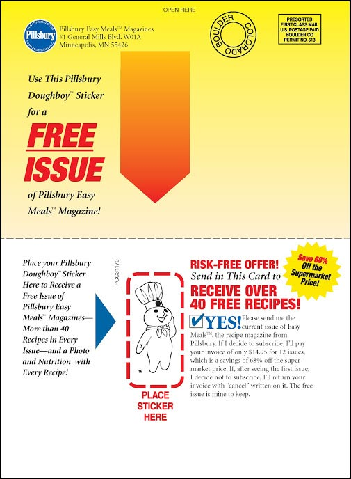 Pillsbury Recipe Cookbook Self-Mailer 2 - Rebecca Sterner