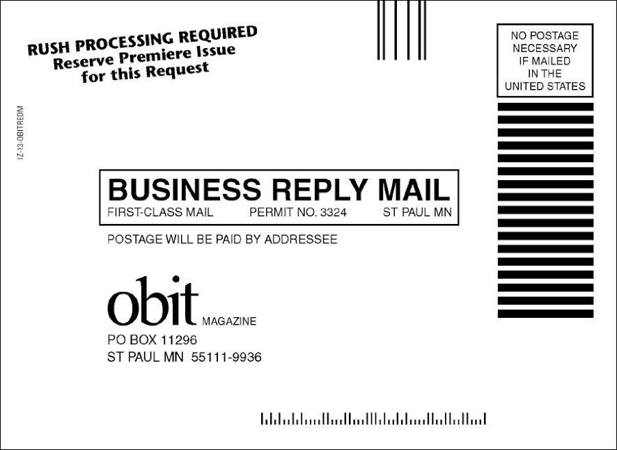 Obit Magazine Dry Launch Test - Rebecca Sterner