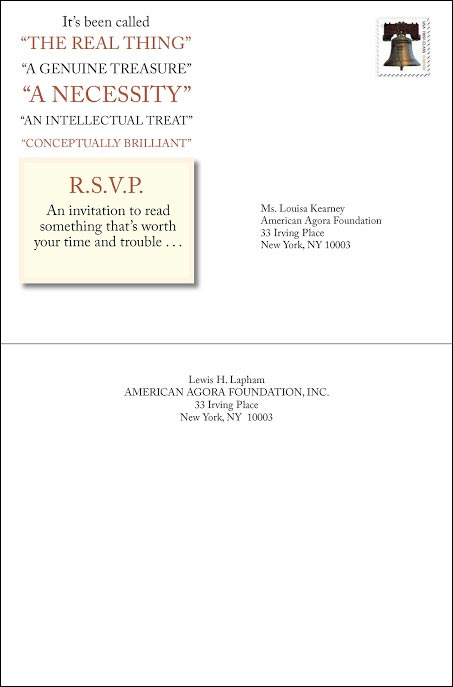 Laphams Quarterly Invitation Style Test Outer Envelope - Rebecca Sterner