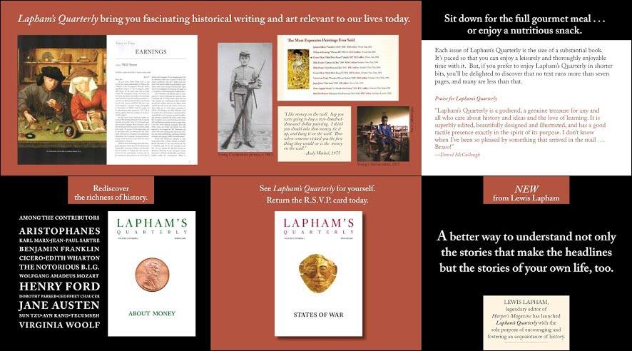 Laphams Quarterly Invitation Style Test Brochure - Rebecca Sterner