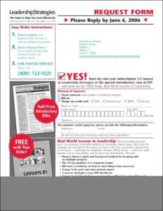 Leadership Strategies B2B New Control Order Form - Rebecca Sterner