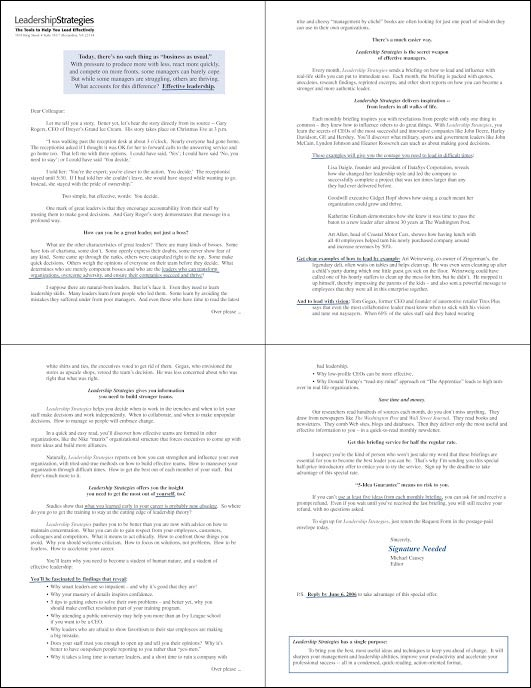 Leadership Strategies B2B New Control Letter - Rebecca Sterner