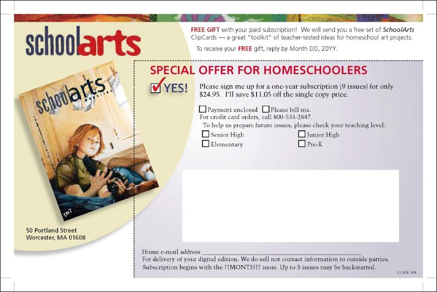 SchoolArts New Control Insert Cards - Rebecca Sterner