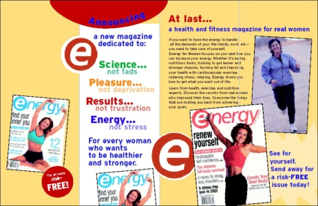 Energy For Women Direct Mail Control Brochure - Rebecca Sterner