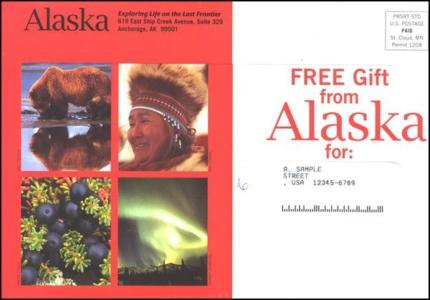 Alaska Direct Mail Test Outer Envelope - Rebecca Sterner