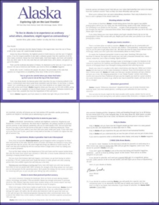 Alaska Direct Mail Test Letter - Rebecca Sterner