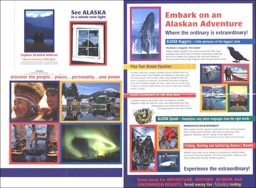 Alaska Direct Mail Test Brochure - Rebecca Sterner