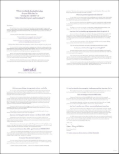 AmericanGirl Long Standing Control letter - Rebecca Sterner