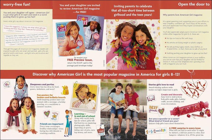 AmericanGirl Greeting Card Package Long Standing Control Brochure - Rebecca Sterner