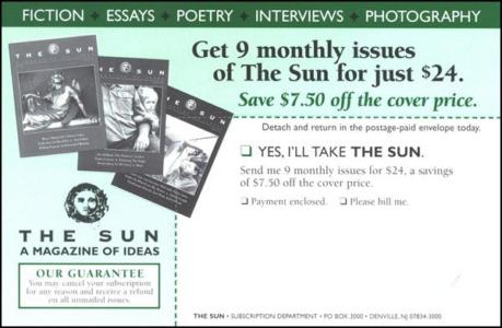 The Sun Direct Mail Test Insert Card - Rebecca Sterner