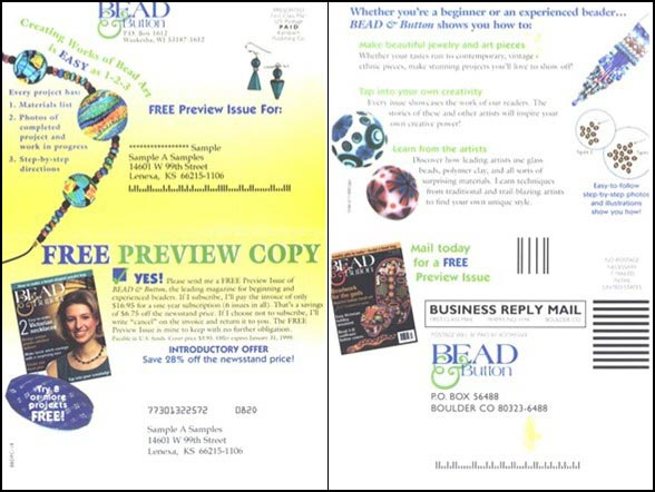 Bead&Button Self Mailer Control - Rebecca Sterner
